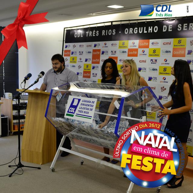 Sorteio extra da campanha Natal em Clima de Festa – 2014